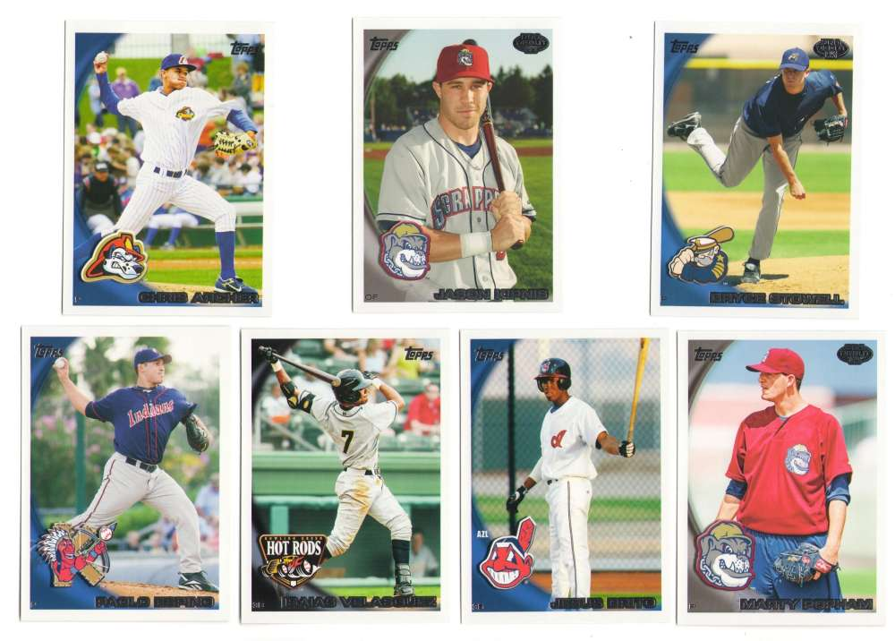 2010 Topps Pro Debut Series 1 (1-220) - CLEVELAND INDIANS Team Set