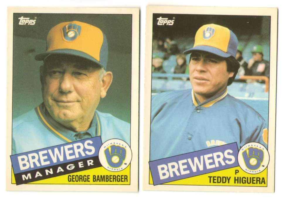 1985 Topps Traded TIFFANY - MILWAUKEE BREWERS Team Set