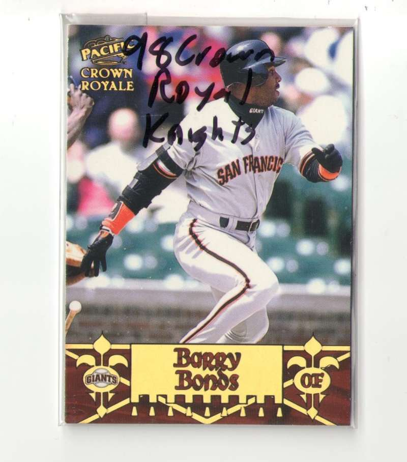 1998 Pacific Crown Royale Diamond Knights - SAN FRANCISCO GIANTS Team Set