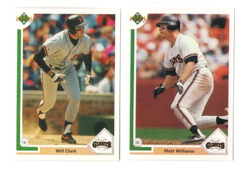 1991 UPPER DECK - SAN FRANCISCO GIANTS Team Set