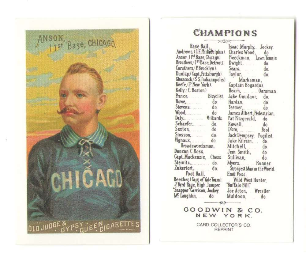 1888 Goodwin N162 Reprints - CHICAGO WHITE STOCKINGS (Cubs)