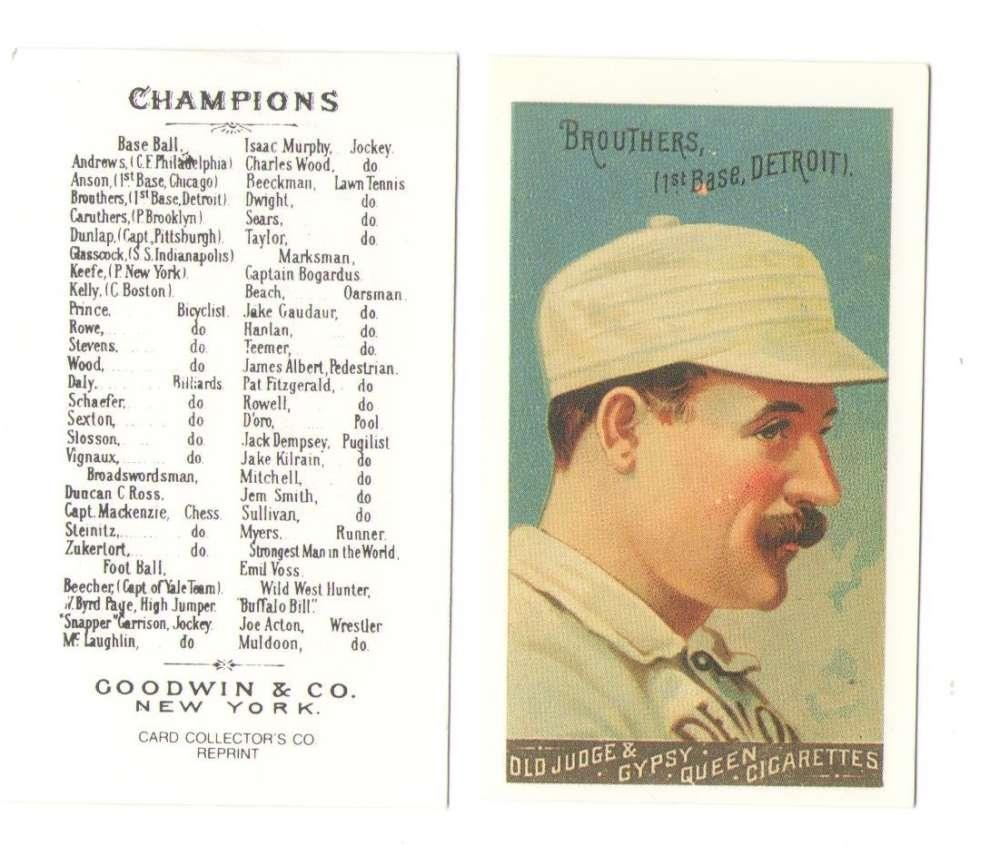 1888 Goodwin N162 Reprints - Detroit Wolverines