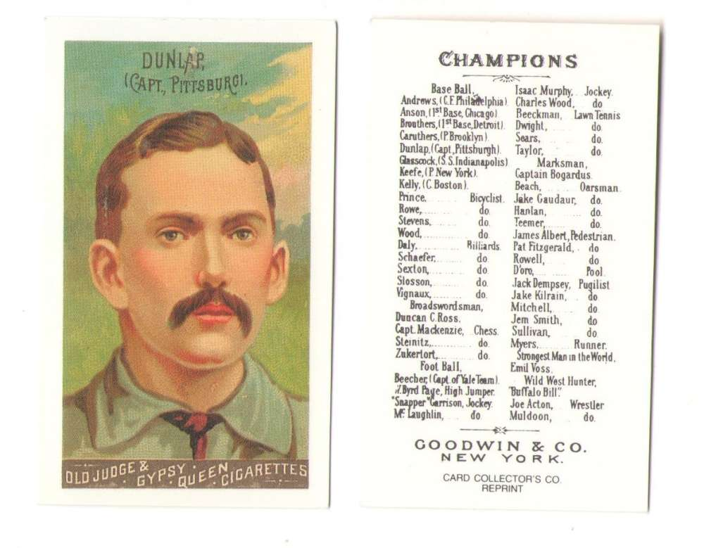 1888 Goodwin N162 Reprints - PITTSBURGH ALLEGHANYS (Pirates)