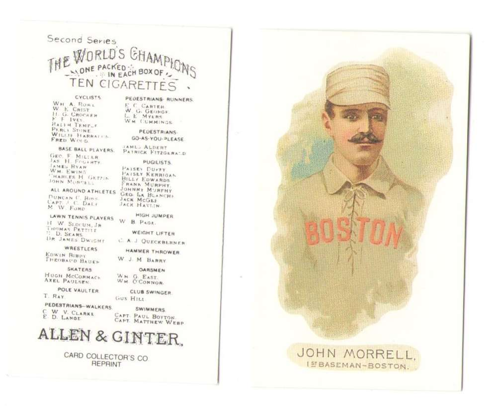 1888 Allen and Ginter N29 Reprints - Boston Beaneaters (Braves)