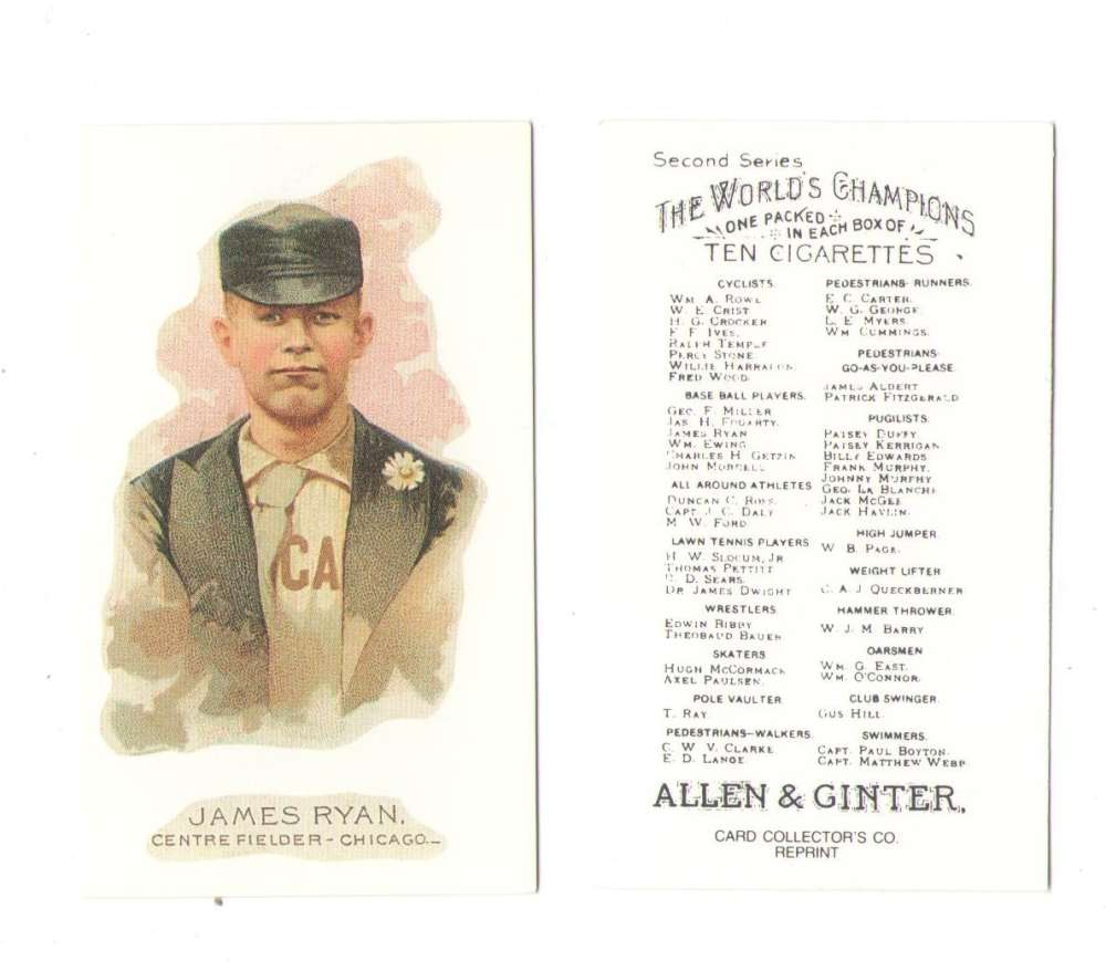 1888 Allen and Ginter N29 Reprints - Chicago White Stockings (Cubs)