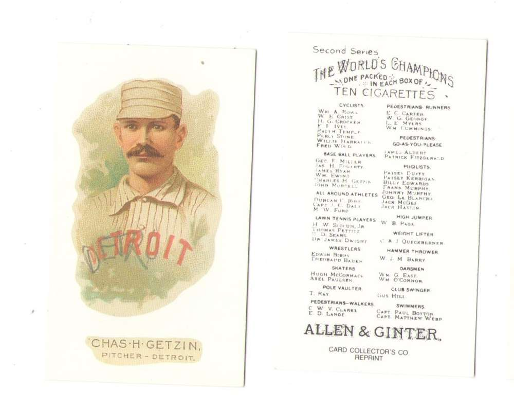 1888 Allen and Ginter N29 Reprints - Detroit Wolverines