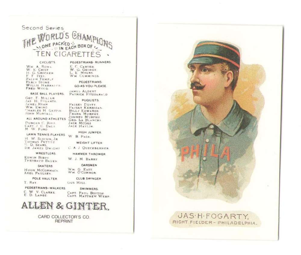 1888 Allen and Ginter N29 Reprints - Philadelphia Philllies