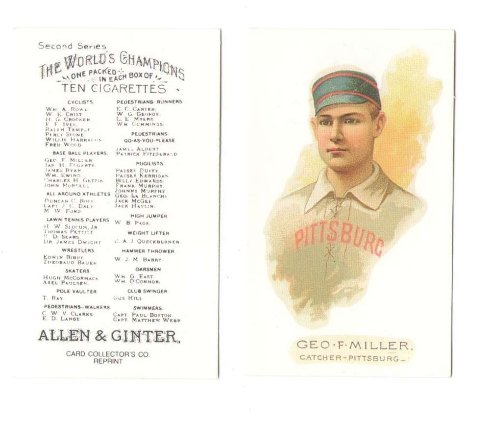 1888 Allen and Ginter N29 Reprints - Pittsburgh Alleghenys (Pirates)