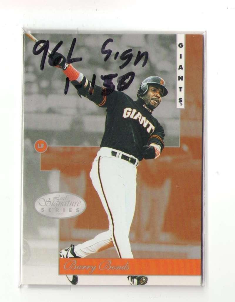 1996 Leaf Signatures (1-150) - SAN FRANCISCO GIANTS Team Set