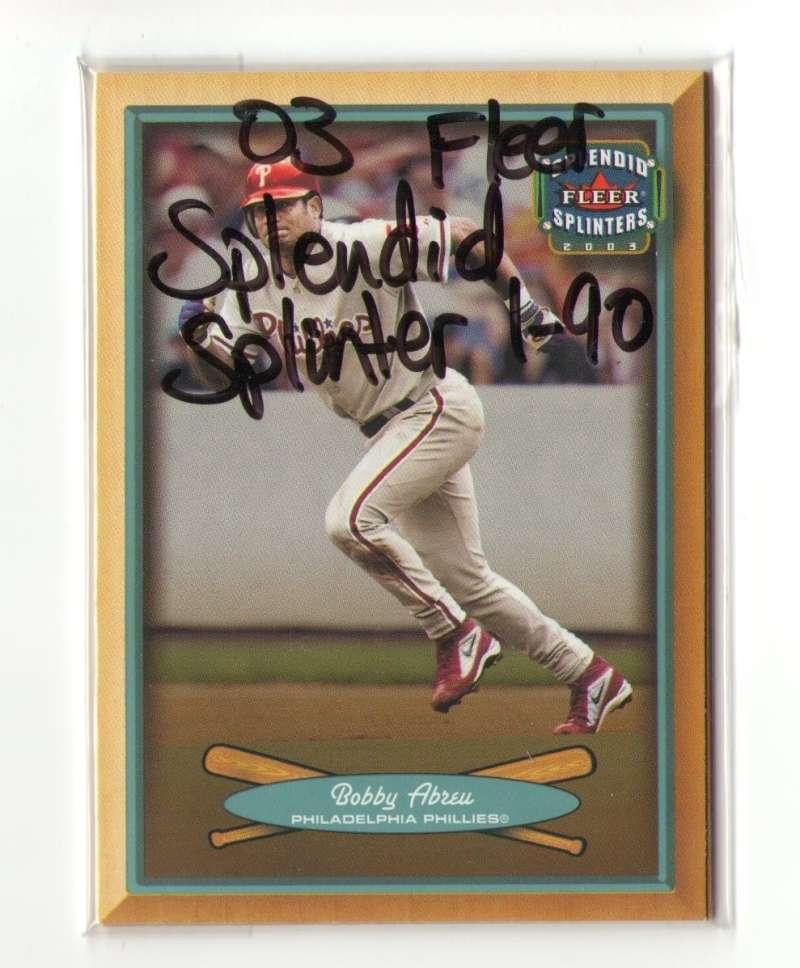 2003 Fleer Splendid Splinters (1-90) PHILADELPHIA PHILLIES Team Set