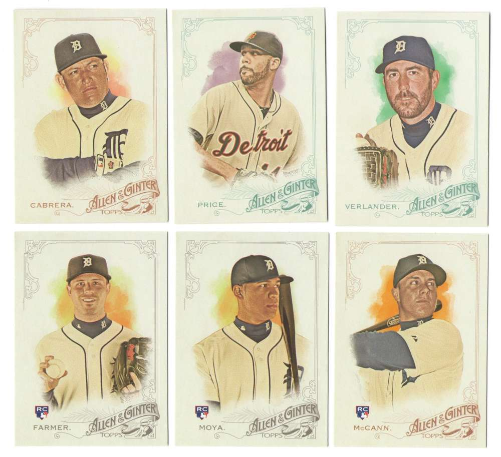 2015 Topps Allen and Ginter - DETROIT TIGERS Team Set