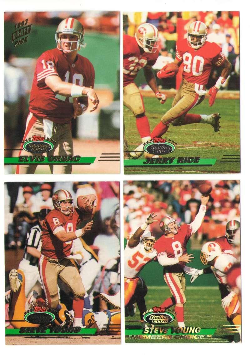 1993 Stadium Club Football Team Set 1-550 - SAN FRANCISCO 49ERS