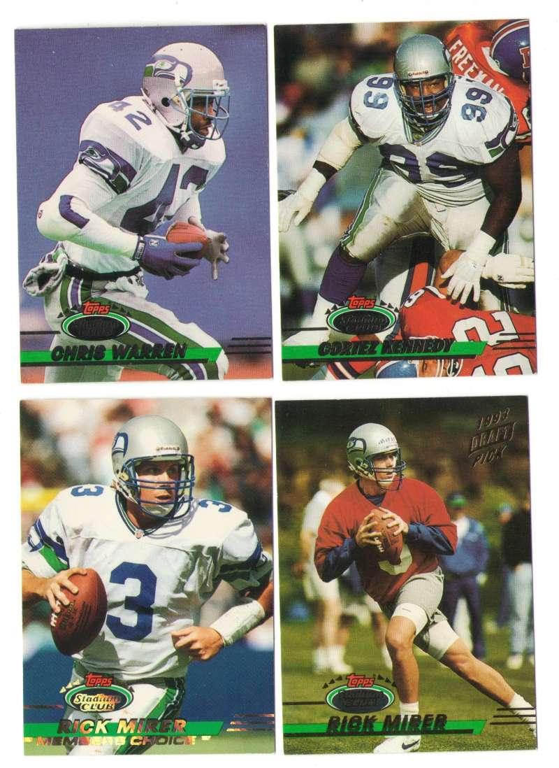 1993 Stadium Club Football Team Set 1-550 - SEATTLE SEAHAWKS