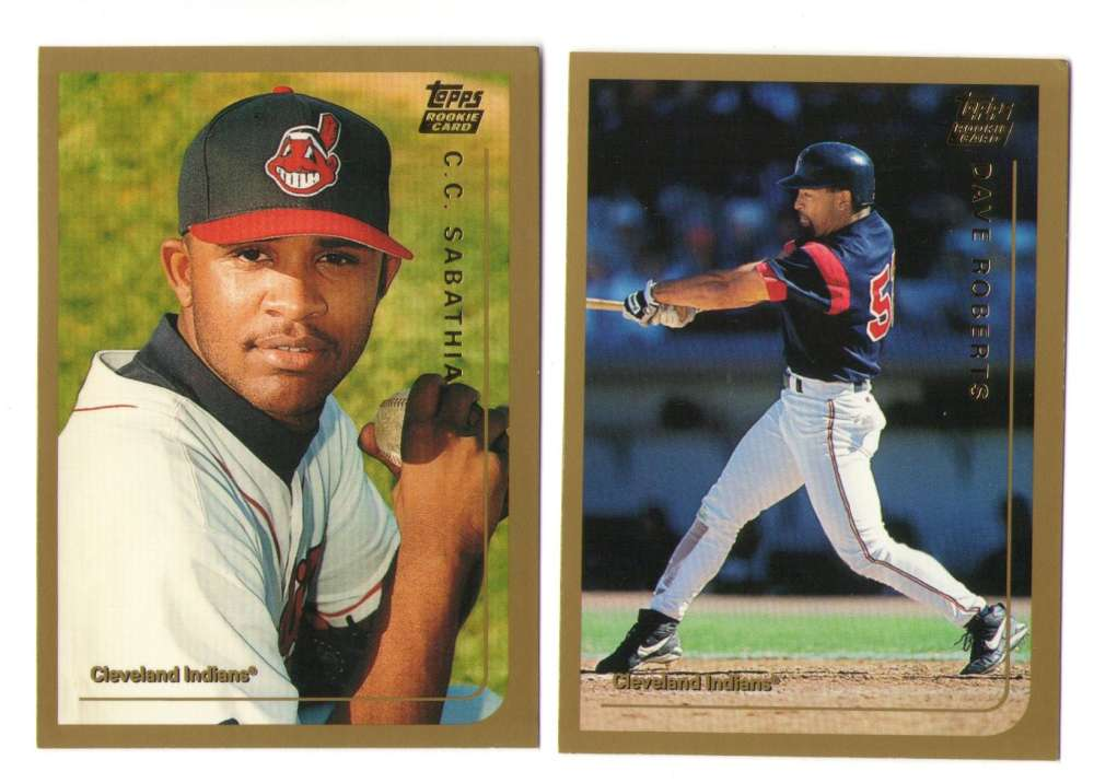 1999 Topps Traded - CLEVELAND INDIANS Team Set w/ CC SABATHIA