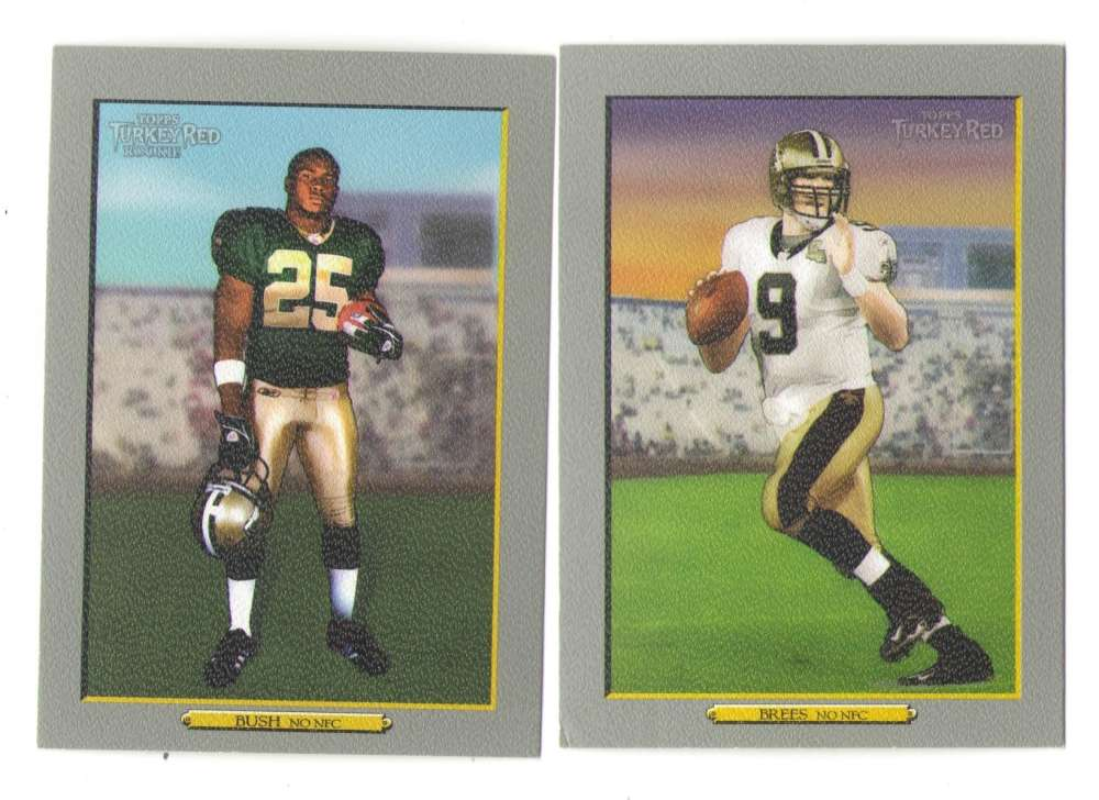 2006 Topps Turkey Red Football Team Set - NEW ORLEANS SAINTS