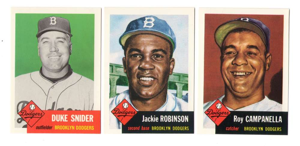 1953 Topps Archives (Reprints) - BROOKLYN DODGERS Team Set