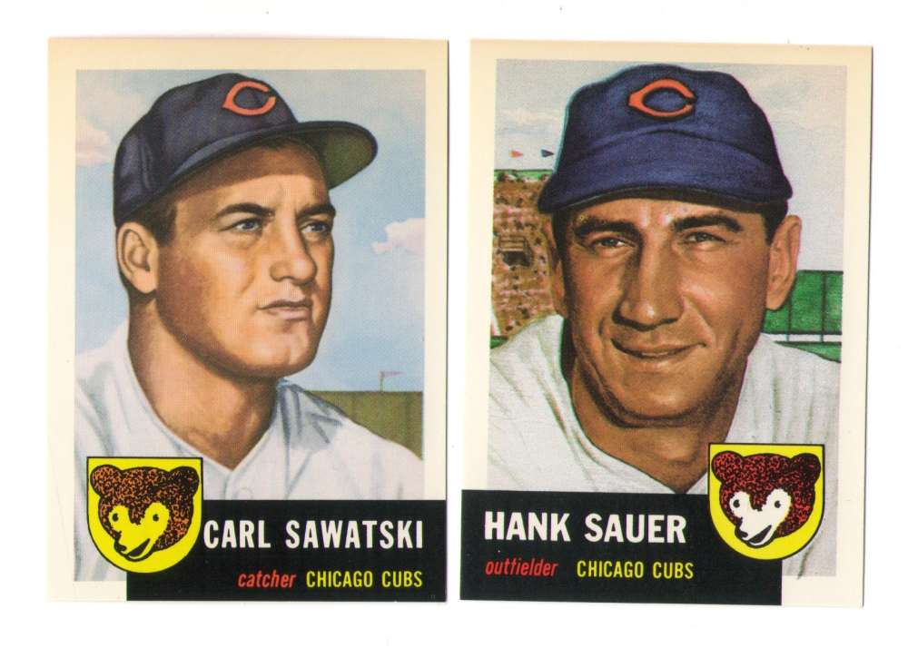 1953 Topps Archives (Reprints) - CHICAGO CUBS Team Set
