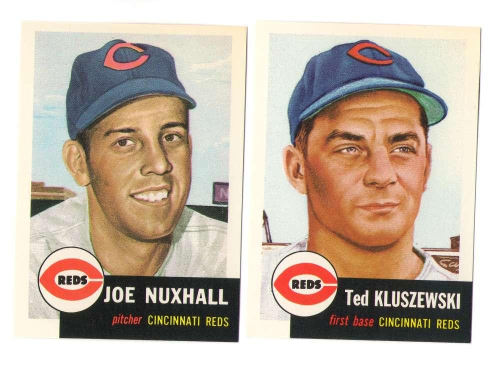 1953 Topps Archives (Reprints) - CINCINNATI REDS Team Set