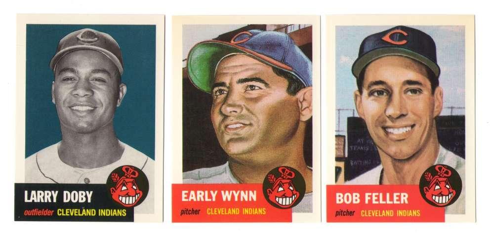 1953 Topps Archives (Reprints) - CLEVELAND INDIANS Team Set