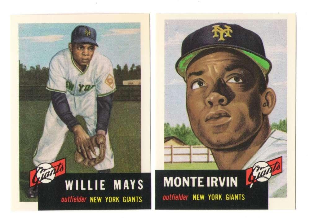 1953 Topps Archives (Reprints) - NEW YORK GIANTS Team Set