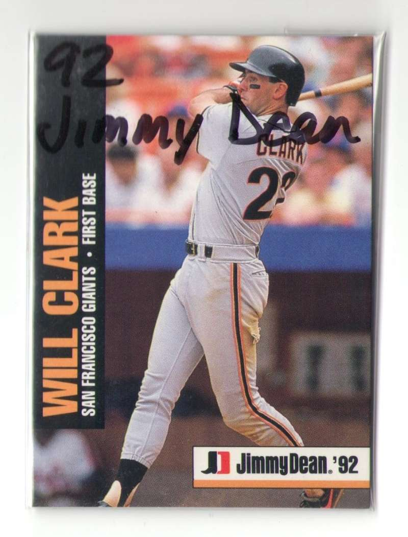 1992 Jimmy Dean - SAN FRANCISCO GIANTS Team Set