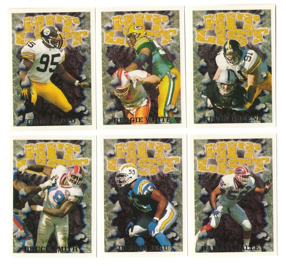 1995 Topps Football Hit List 20 card insert set.