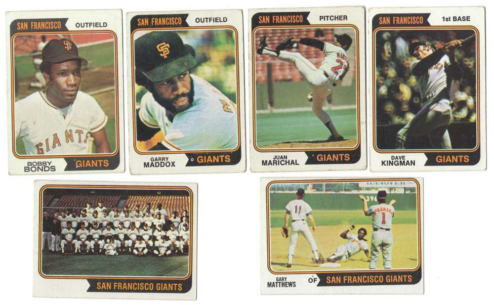 1974 Topps C VG+ condition SAN FRANCISCO GIANTS Team Set