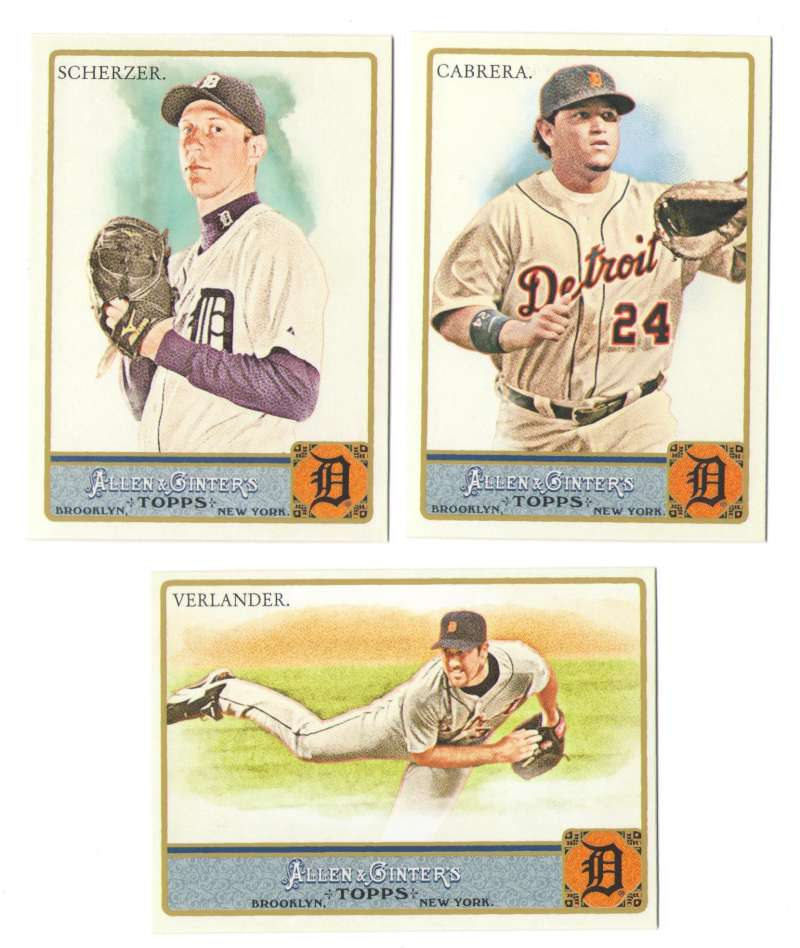 2011 Topps Allen and Ginter (1-350) - DETROIT TIGERS Team Set