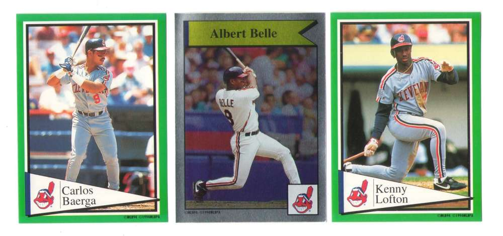 1994 Panini Stickers CLEVELAND INDIANS Team Set