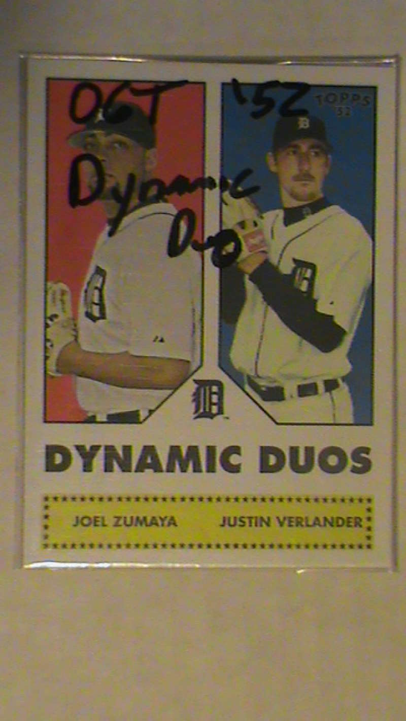 2006 Topps 52 Dynamic Duos - DETROIT TIGERS w/ JUSTIN VERLANDER