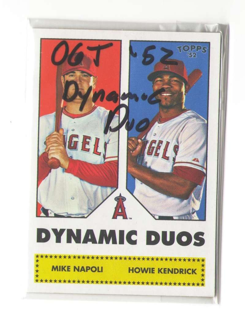 2006 Topps 52 Dynamic Duos - LOS ANGELES ANGELS Team set