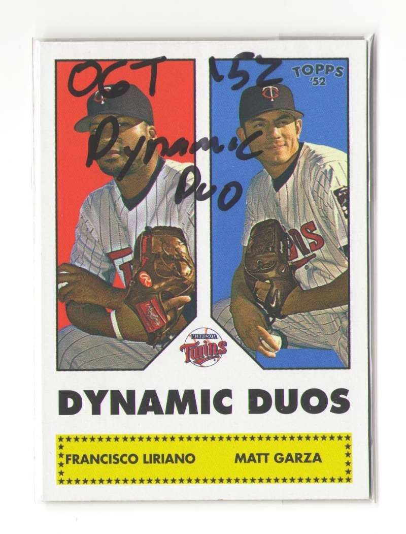 2006 Topps 52 Dynamic Duos - MINNESOTA TWINS
