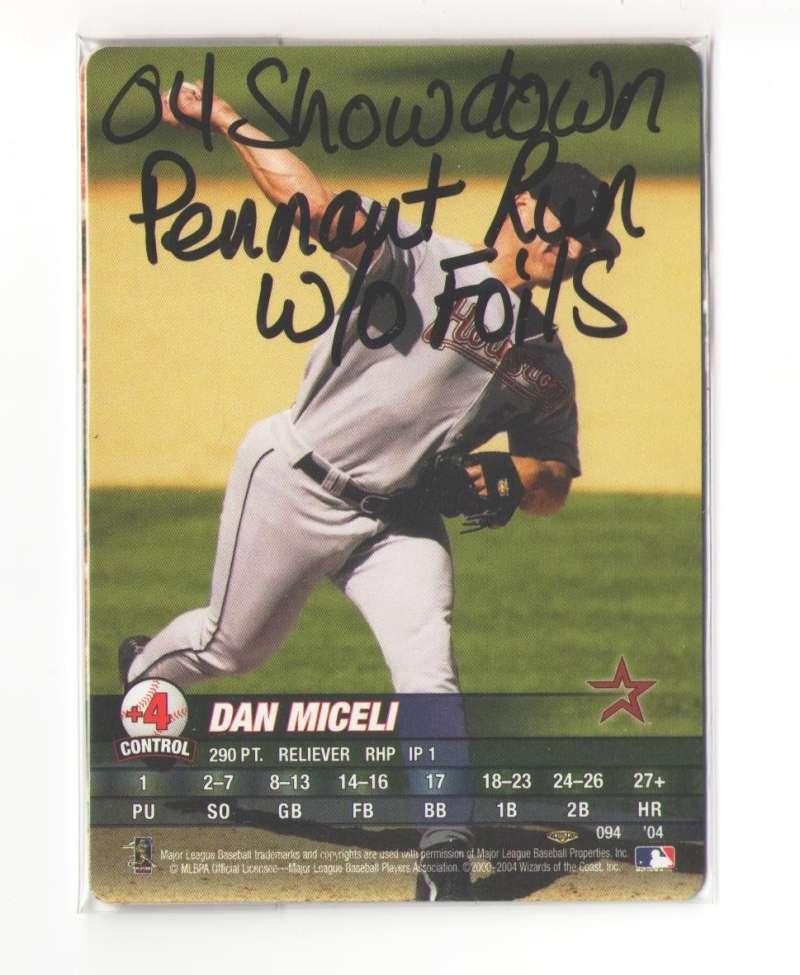 2004 MLB Showdown Pennant Run w/o foil - HOUSTON ASTROS Team set