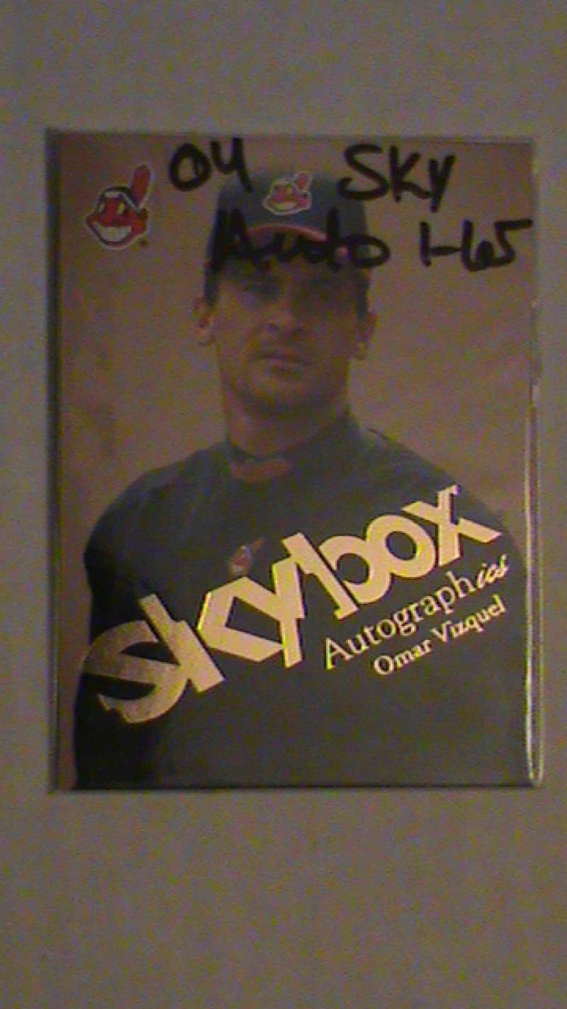 2004 SkyBox Autographics (1-65) CLEVELAND INDIANS Team Set