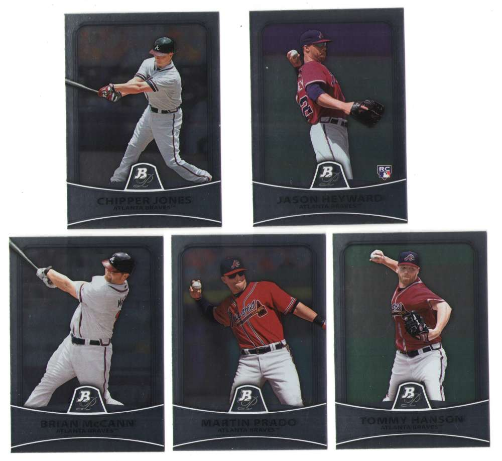 2010 Bowman Platinum - ATLANTA BRAVES Team Set