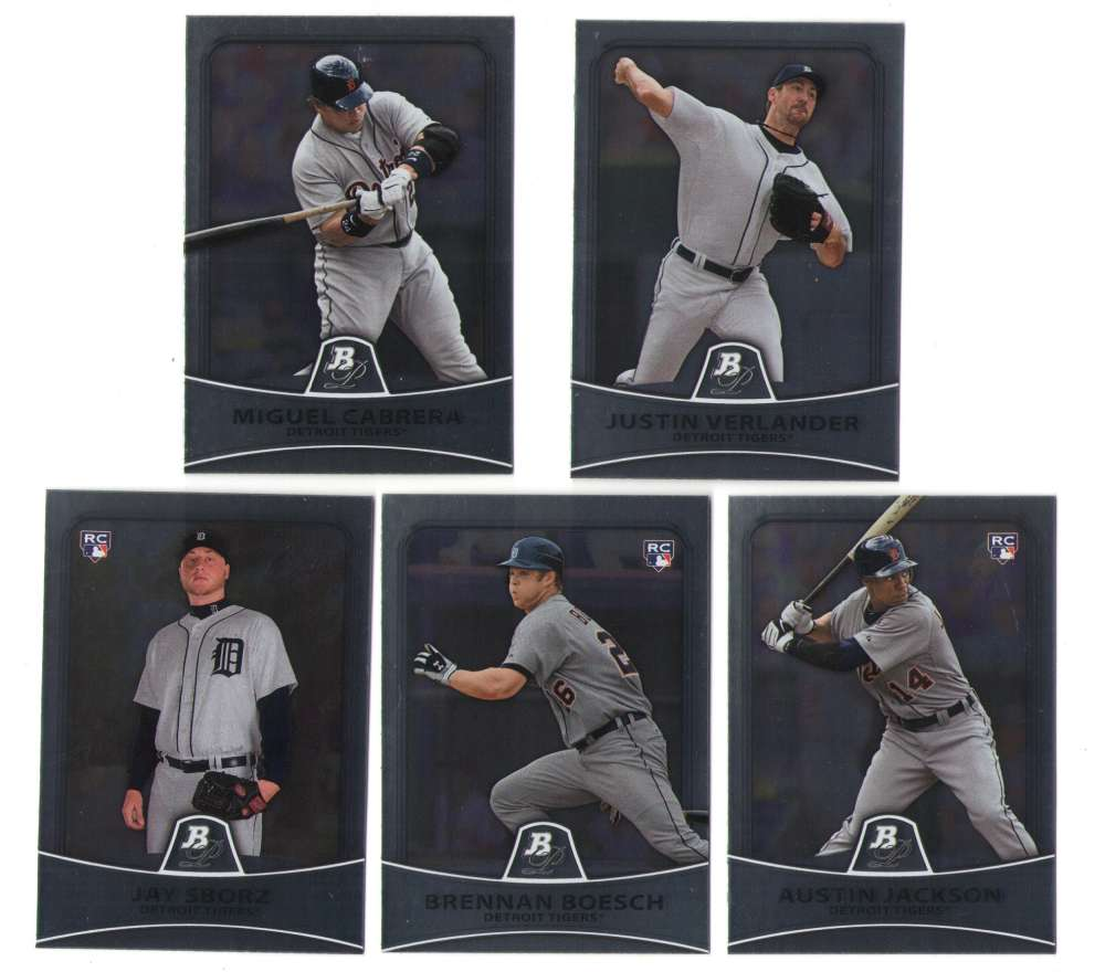 2010 Bowman Platinum - DETROIT TIGERS Team Set