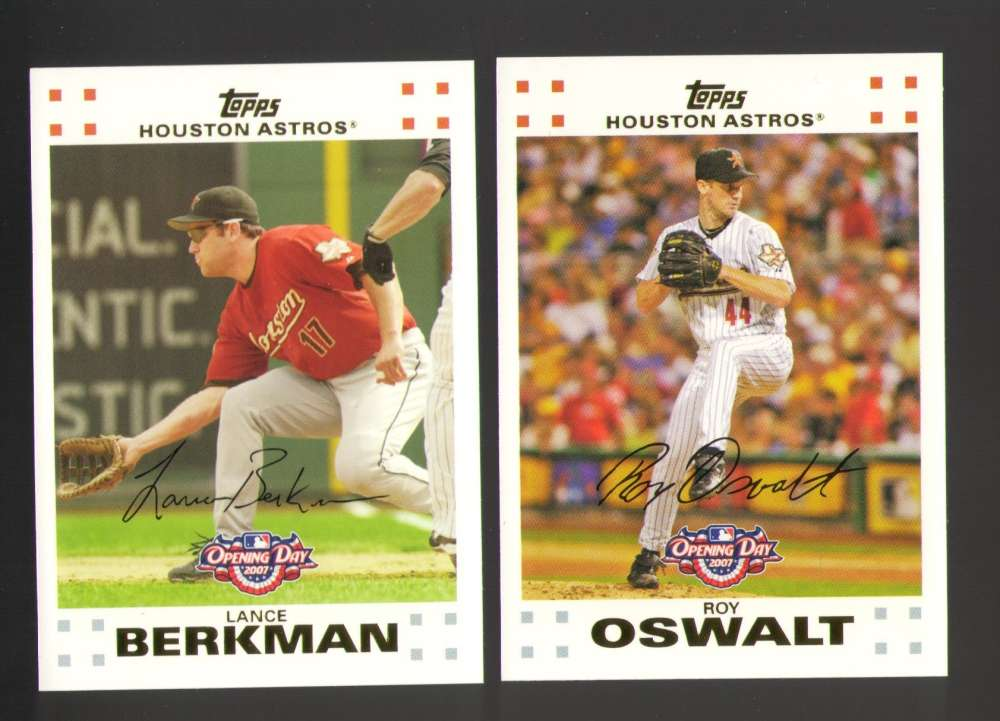 2007 Topps Opening Day - HOUSTON ASTROS Team Set