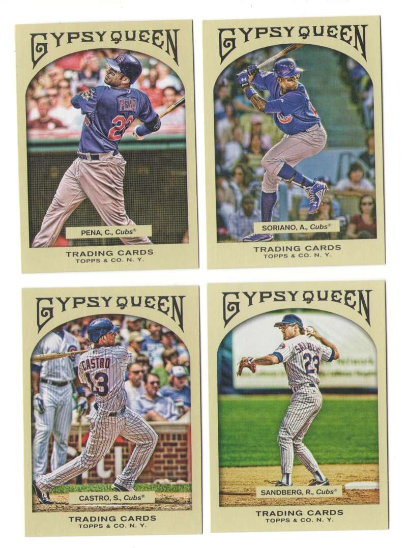 2011 Topps Gypsy Queen (1-350) - CHICAGO CUBS Team Set