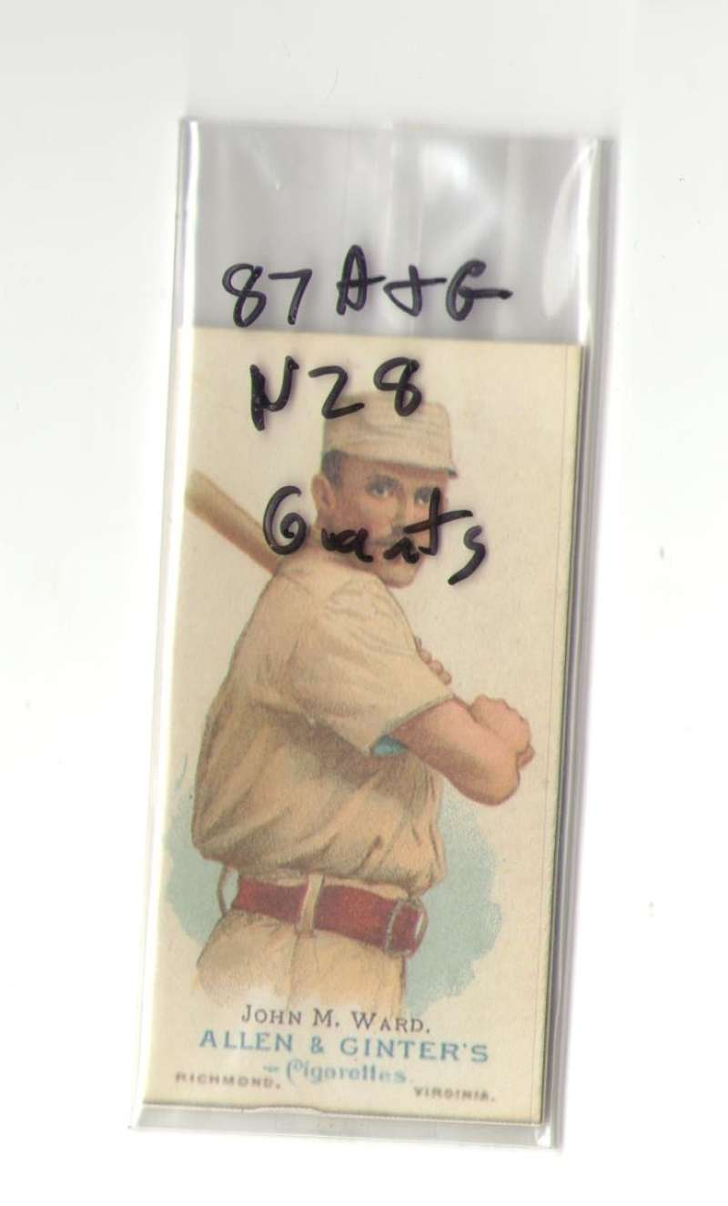 1887 Allen and Ginter N28 Reprints - NEW YORK GIANTS Team Set