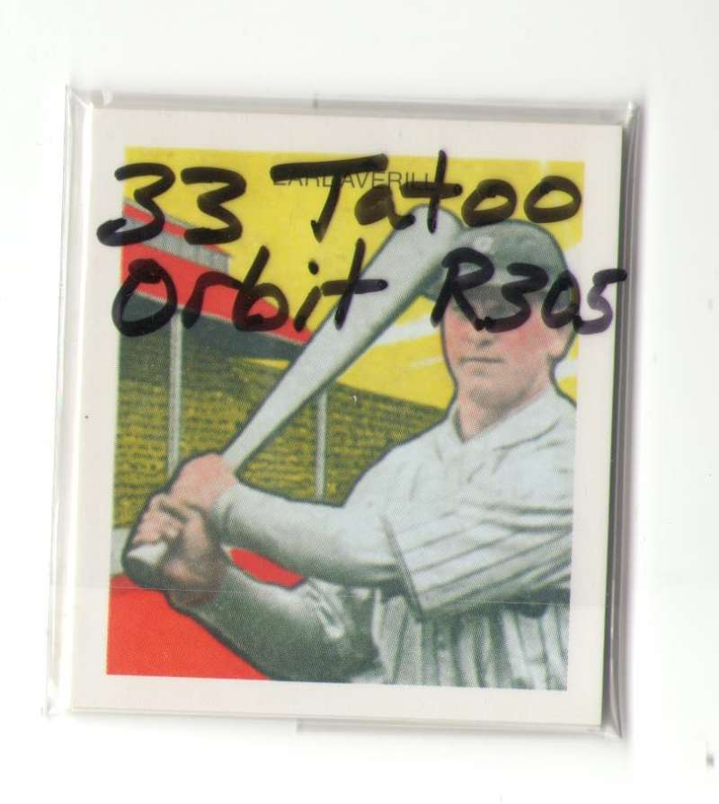 1933 Tatoo Orbits (R305) Reprints - CLEVELAND INDIANS Team Set