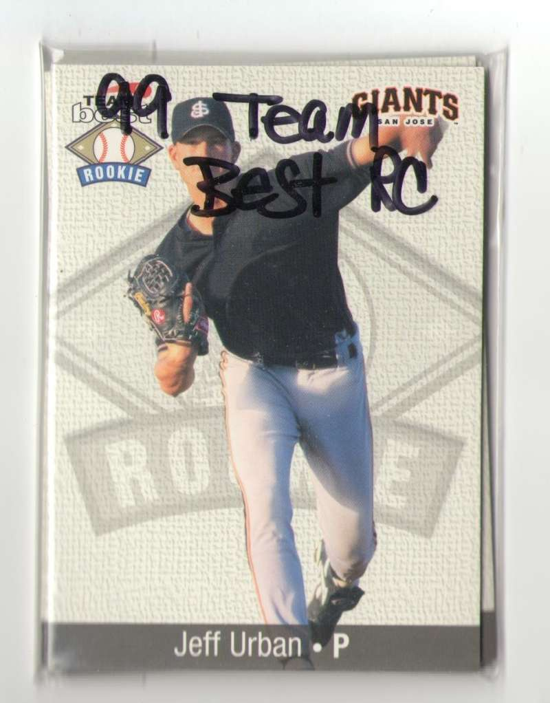 1999 Team Best Rookies - SAN FRANCISCO GIANTS Team Set
