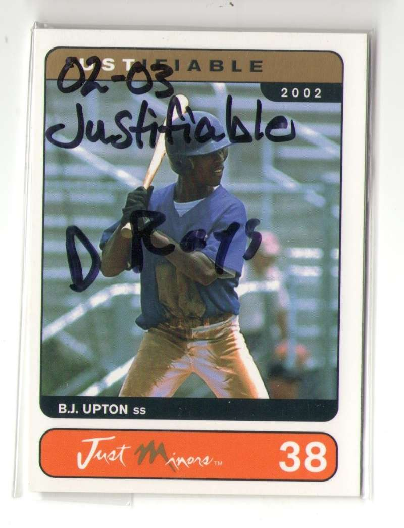 2002-03 Justifiable - TAMPA BAY DEVIL RAYS Team Set