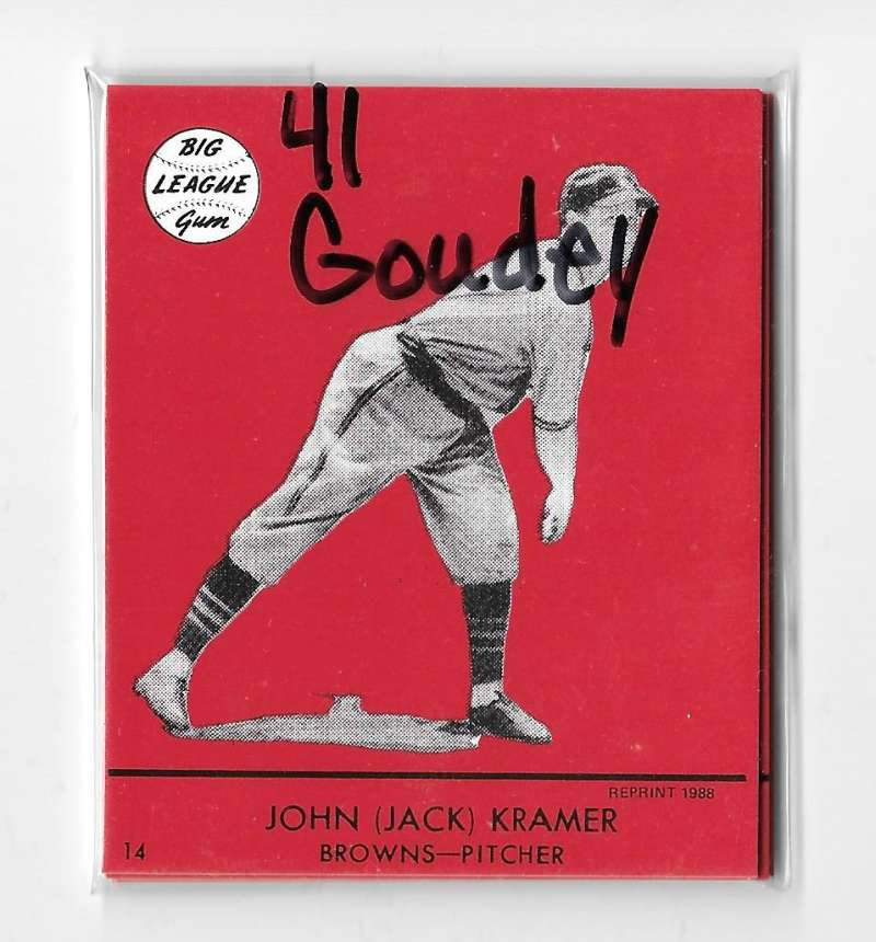 1941 Goudey Reprints (Red) - ST LOUIS BROWNS Team Set