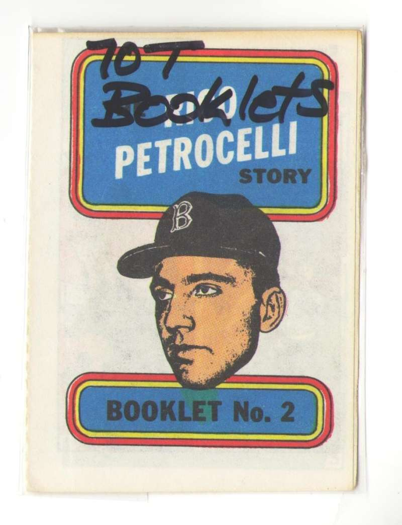 1970 Topps Booklets BOSTON RED SOX