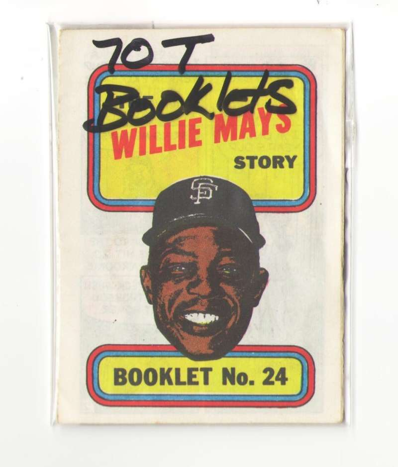 1970 Topps Booklets SAN FRANCISCO GIANTS