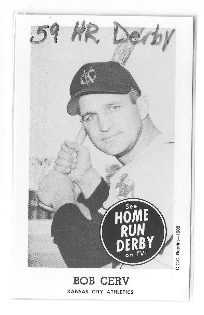 1959 Home Run Derby Reprints - KANSAS CITY ATHLETICS / A'S