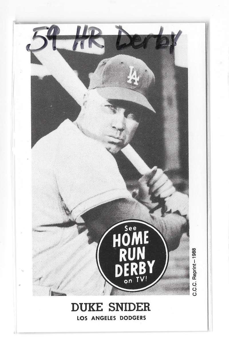 1959 Home Run Derby Reprints - LOS ANGELES DODGERS Team Set