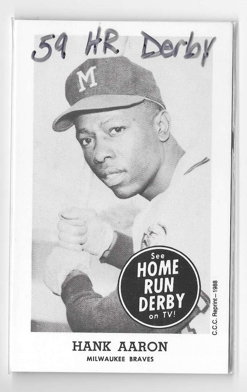 1959 Home Run Derby Reprints - MILWAUKEE BRAVES Team Set