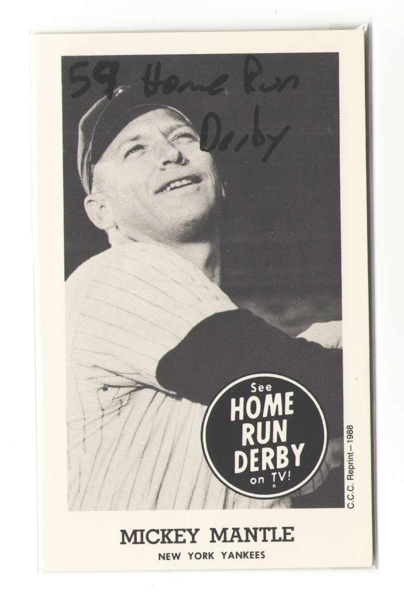 1959 Home Run Derby Reprints - NEW YORK YANKEES