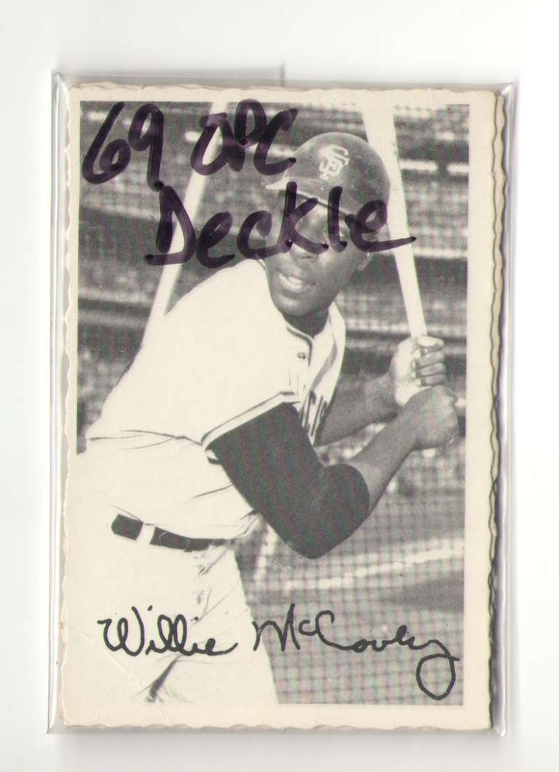 1969 O-Pee-Chee Deckle VG+ condition - SAN FRANCISCO GIANTS Team Set